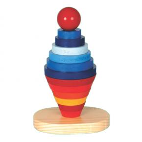 Brinquedo Educativo de Madeira - Desafio - Torre Serial