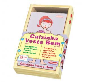 Brinquedo Educativo - Estilo - Caixinha Veste Bem - Ela