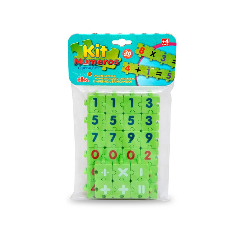 Kit Números Operações 30 peças - Elka