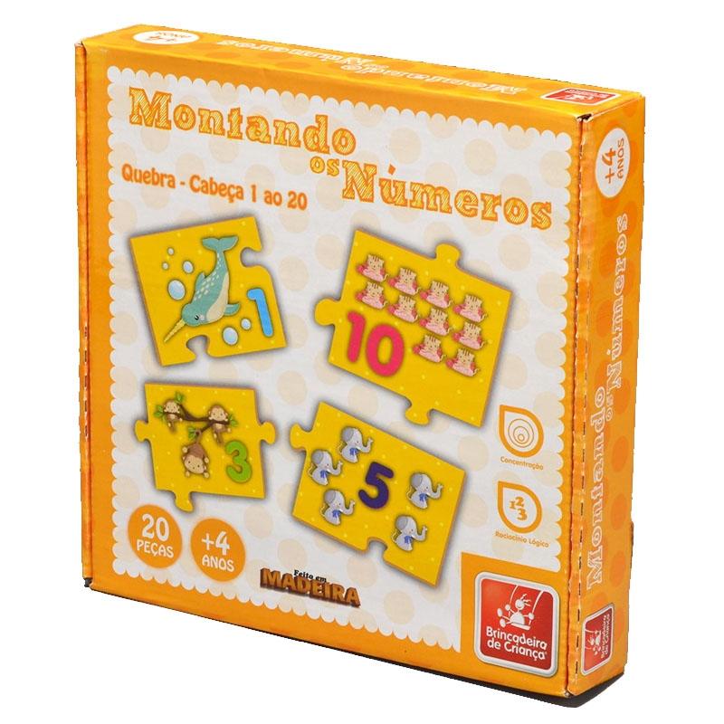 Montando os Números 1 ao 20 - Brincadeira De Criança