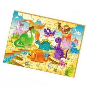 Quebra-Cabeça Dinossauros Gigante - Brincadeira de Criança