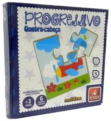 Quebra-Cabeça Progressivo - Brincadeira de Criança