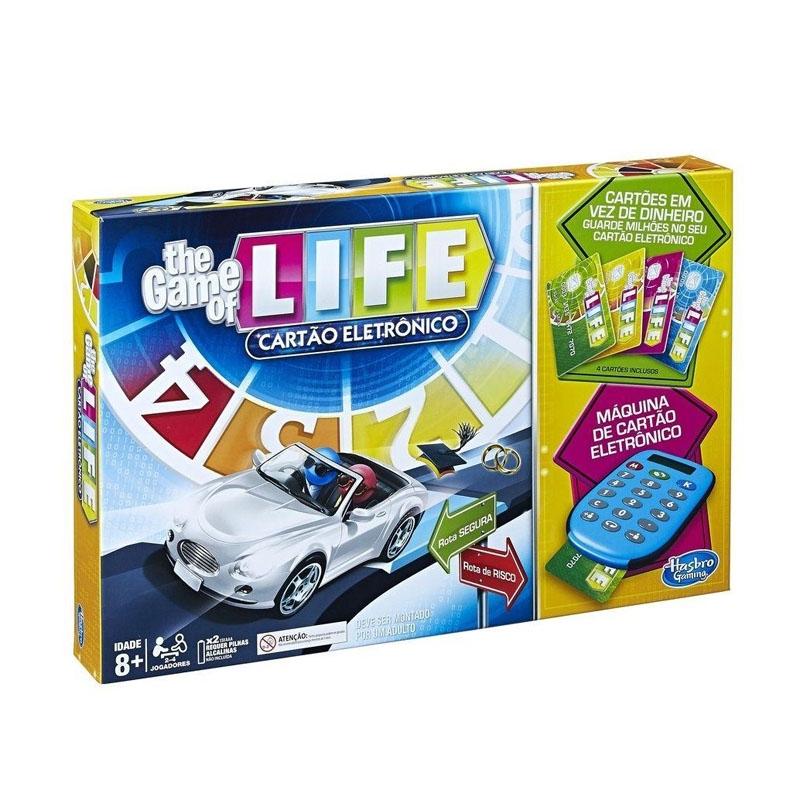 Jogo The Game Of Life com Cartão Eletrônico - Hasbro - Tabuleiro
