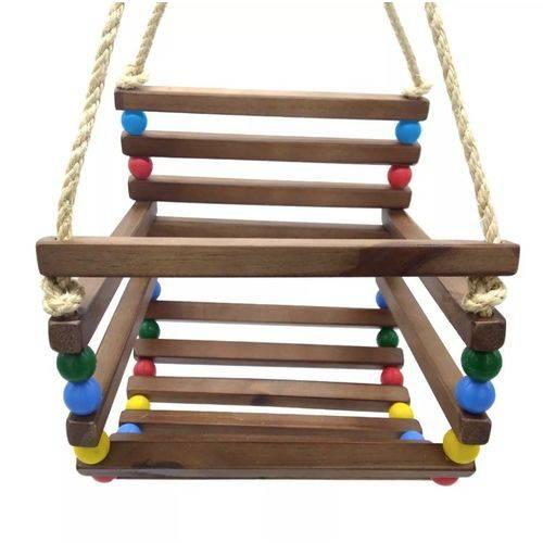 Cadeirinha Balanço de Madeira Grande - Grillo Brinquedos