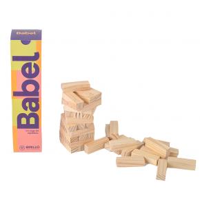 Babel - Torre de Equilíbrio de Madeira - Grillo Brinquedos