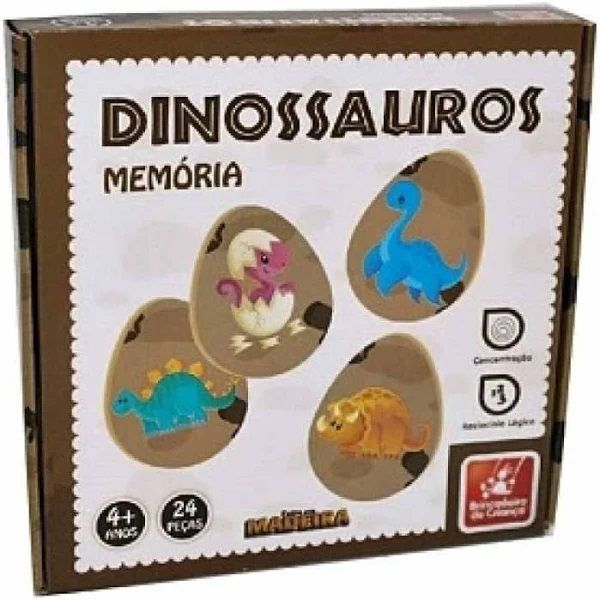Jogo da Memória Dinossauros - Brincadeira de Criança