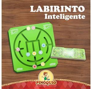Brinquedo de Madeira - Desafio de Lógica - Labirinto Inteligente