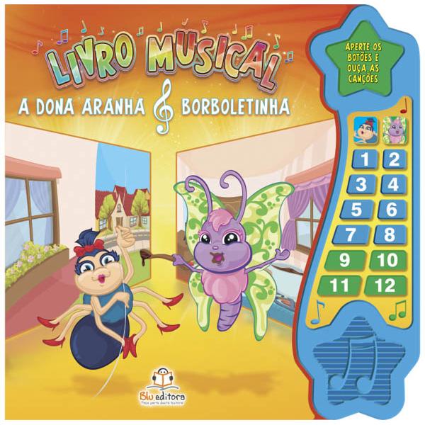 Livro Musical - A Dona Aranha & Borboletinha