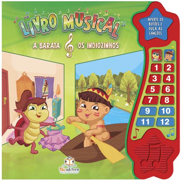 Livro Musical - A Barata & Os Indiozinhos