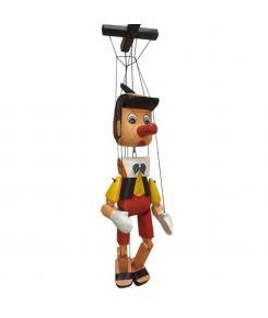Pinóquio Médio 50 cm - Artesanal - Marionete de Madeira Articulado