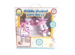 Móbile em Pelúcia Giratório Musical - Berço de Bebê - Bailarina Ursinha - Kitstar