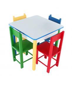 Mesa Com 4 Cadeiras - Grillo Brinquedos - Mobilia Infantil