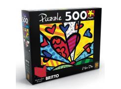 Quebra-Cabeça - Puzzle 500 peças Romero Britto - A New Day
